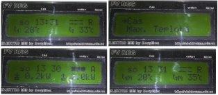 Ukázky zobrazení na LCD