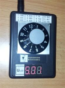 Tester LED diod - měření napájení
