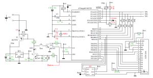 Schéma AVR testetu HW1.11
