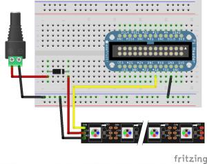 Zapojení s křemíkovou diodou.