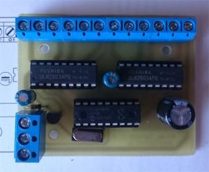 Dekodér elektromagnetických přestavníků - slave